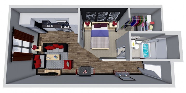 Unit D1 Floor Plan
