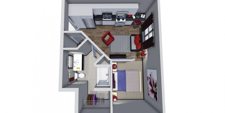 Unit E Floor Plan