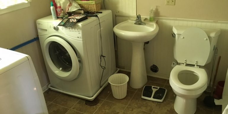 Half Bath and Laundry